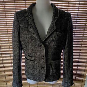 Banana Republic Wool Blend Herringbone Jacket